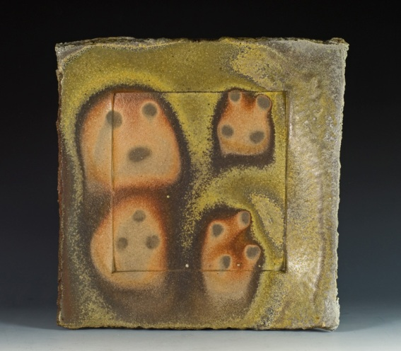 Square Wood Fired Plate - Artist Simon Levin