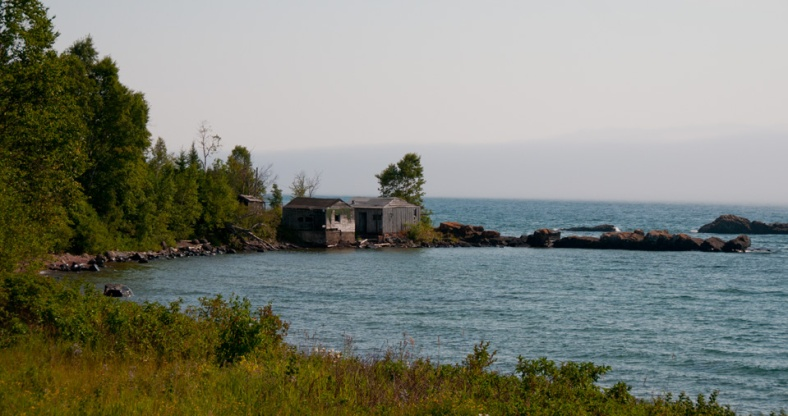 Lake Superior - Old Shacks - Minnesota