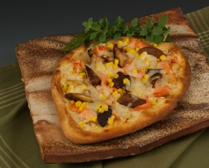 Smoked Salmon Pizza - Platter by Dick Cooter