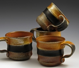 Soda Fired Mugs - MaashaClay Pottery