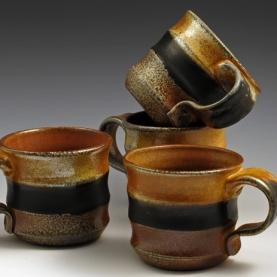 Soda Fired Mugs - MaashaClay Pottery