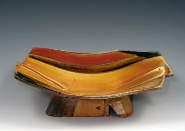 Overlapped Pedestal Bowl - MaashaClay Pottery