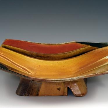 Overlapped Pedestal Bowl - MaashaClay Pottery