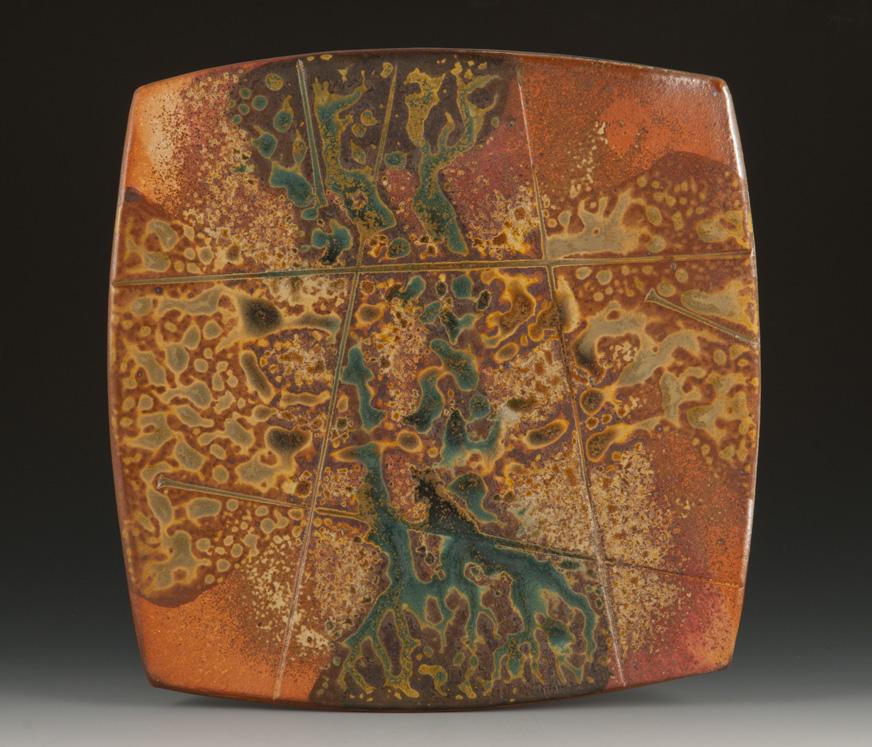 Soda Fired Platter/Square - MaashaClay Pottery