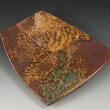 Overlapped Plate - MaashaClay Pottery