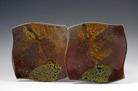 Soda Fired Plates - MaashaClay Pottery