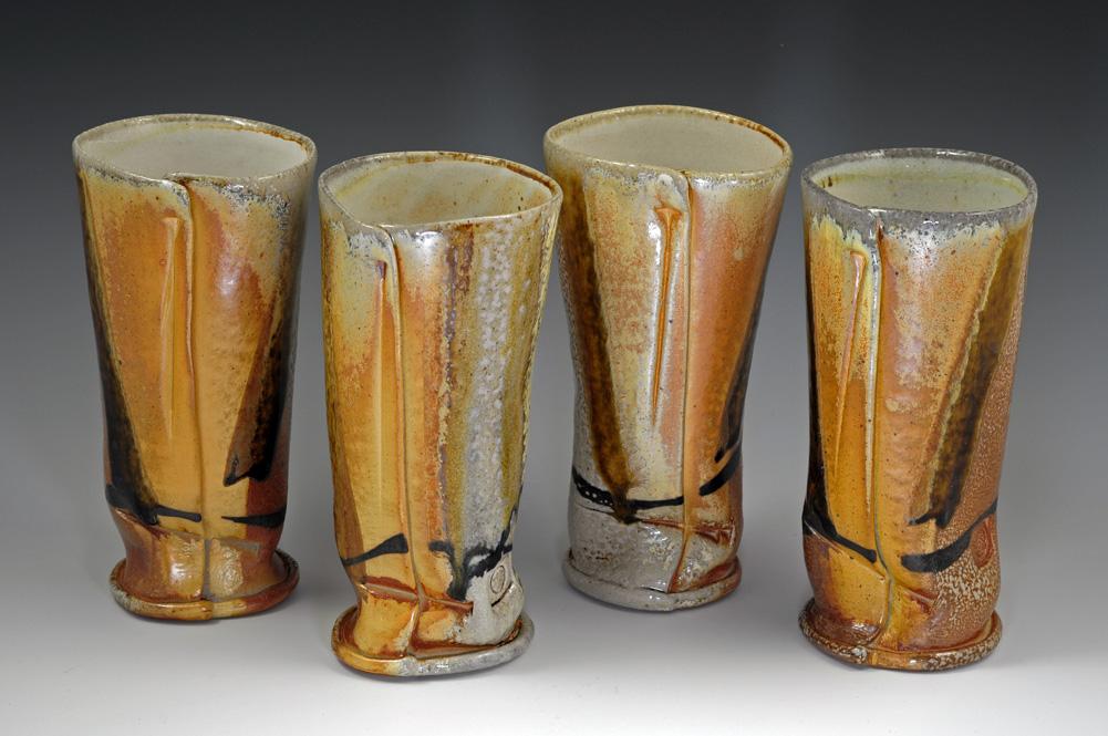 Soda Fired Tumblers - MaashaClay Pottery