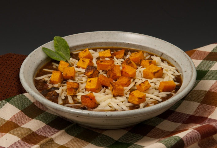 Black Bean Chili with Roasted Squash - Bowl by Jim Lorio