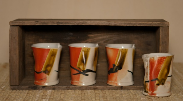 Porcelain Wine Tumblers - MaashaClay Pottery