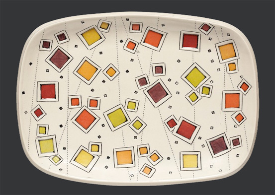 Tray with Color-Windows - by Julie Timm