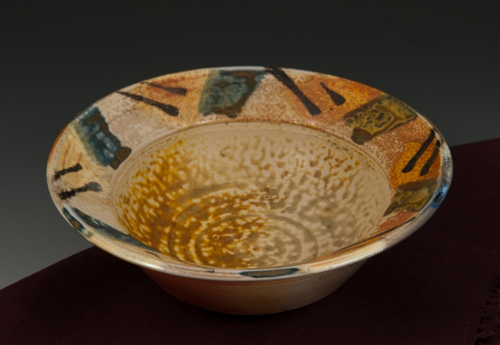 Serving Bowl Soda-fired - by MaashaClay