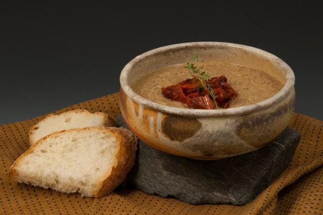 Creamy Mushroom Soup - Bowl by Zac Spates