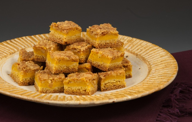 Pumpkin Bar Bites - Plate by Marcia Paul