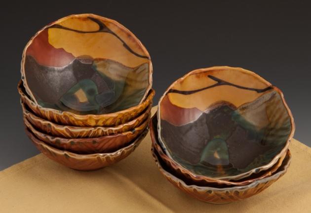 Rice Bowls - Soda Fired - by MaashaClay