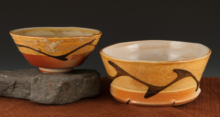 Two Bowls / Soda Fired - by Marcia Paul