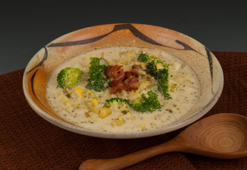 Broccoli/Corn Chowder - Bowl by Marcia Paul