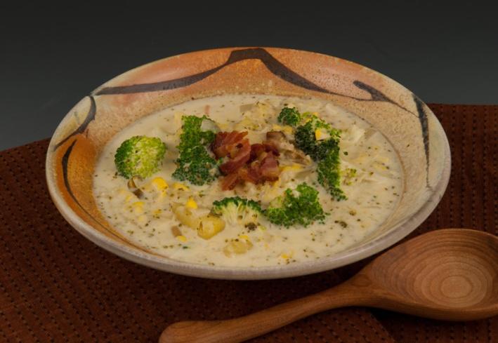 Broccoli/Corn Chowder - Bowl by Marcia Paul