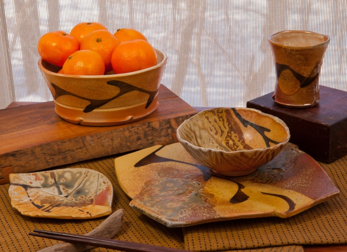 Pottery on the Table - by Marcia Paul