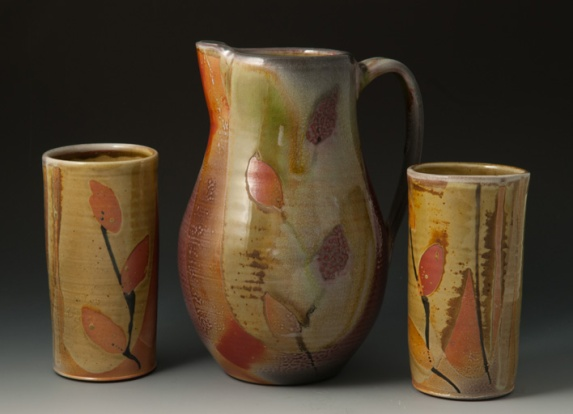 Pitcher and Tumblers - by Sandra Shaughnessy
