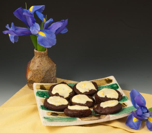 Chocolate-Almond Cookies - Mike Helke Plate