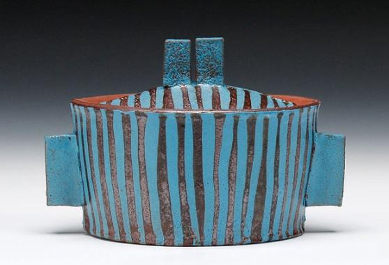 Lidded Pot - by Artist, Mike Helke