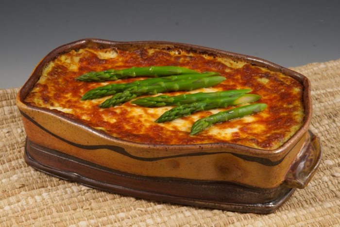 Springtime Lasagne - Baking Dish by Marcia Paul