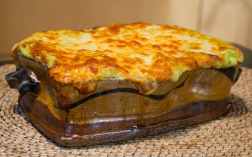 Lasagne with Sweet Peas and Shiitake Mushroom - Marcia Paul Pottery