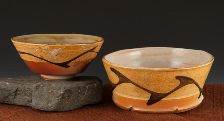 Lovely Bowls soda fired - Marcia Paul Pottery