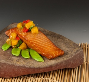 Smoked Salmon with Mango Chutney