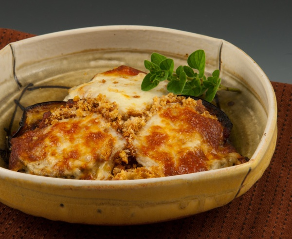 Eggplant Parmesan - Bowl by Delores Fortuna