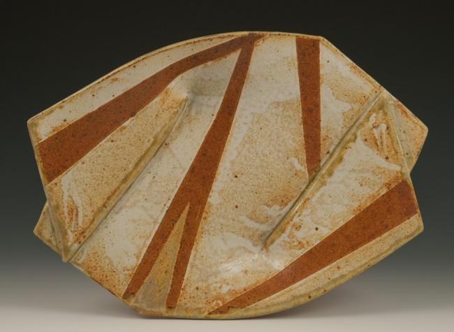 Twist Plate - by Marcia Paul Pottery
